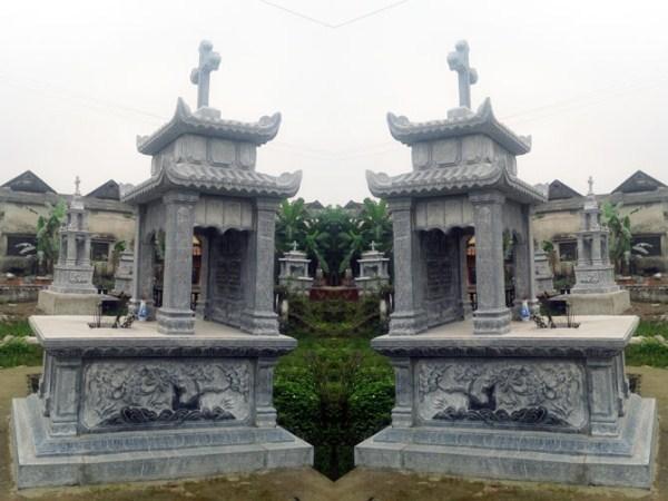 Mộ đá công giáo 005, mộ công giáo