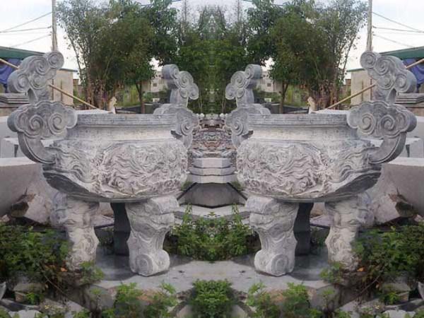 Lư hương đá 008, lư hương đá, đỉnh hương đá