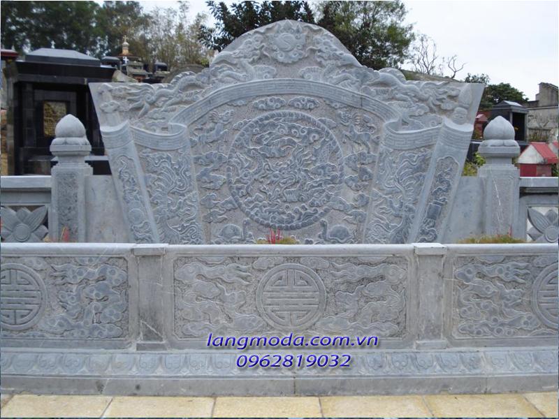 Cuốn thư đá 005, bình phong đá, mộ đá, lăng mộ đá, điêu khắc mộ đá
