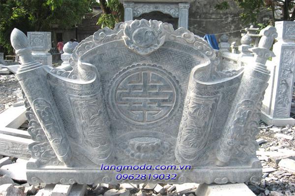 Cuốn thư đá 008, lăng mộ đá, mộ đá, mẫu mộ đá