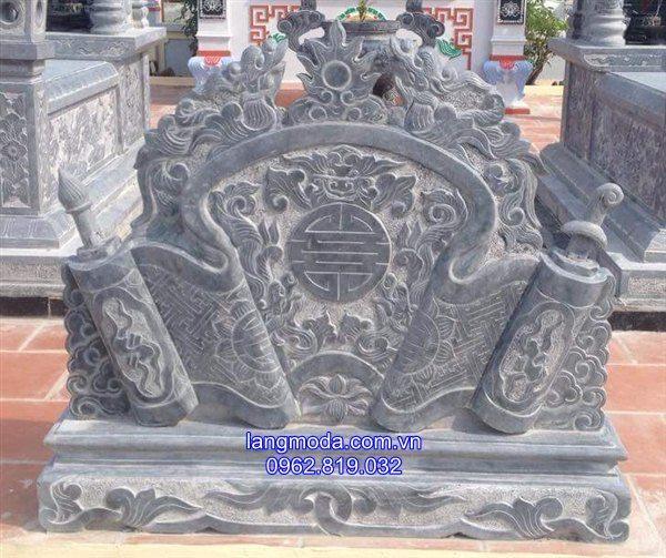Mẫu cuốn thư đá lăng mộ
