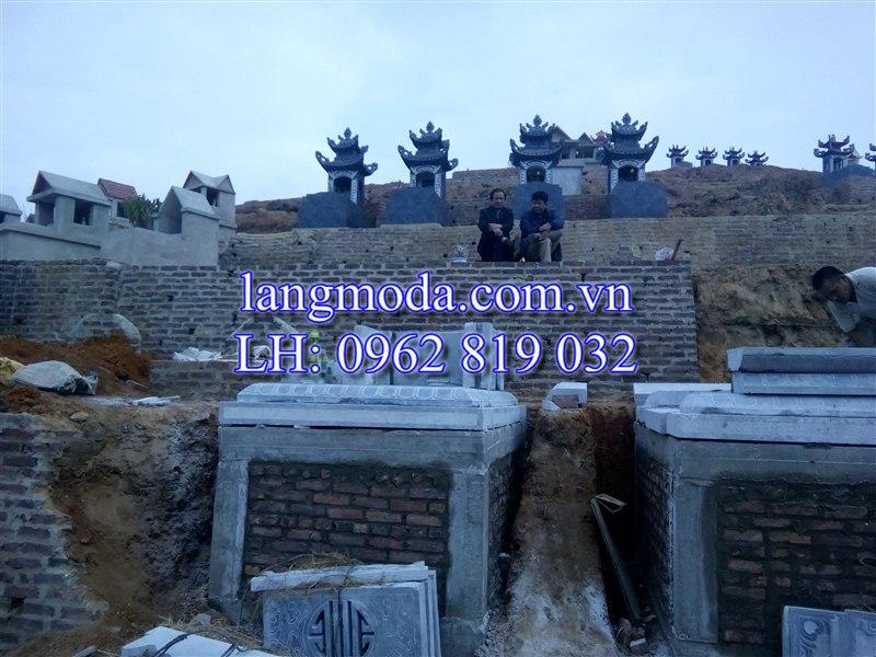 lắp ghép mộ đá, mộ đá Thái Nguyên, xây dựng mộ đá