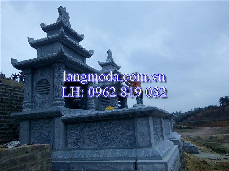 Lăng mộ đá tại huyện Phổ Yên, tỉnh Thái Nguyên, lăng mộ đá đẹp, khu lăng mộ đá, mộ đá khối, mộ đá xanh, đá xanh thanh hóa