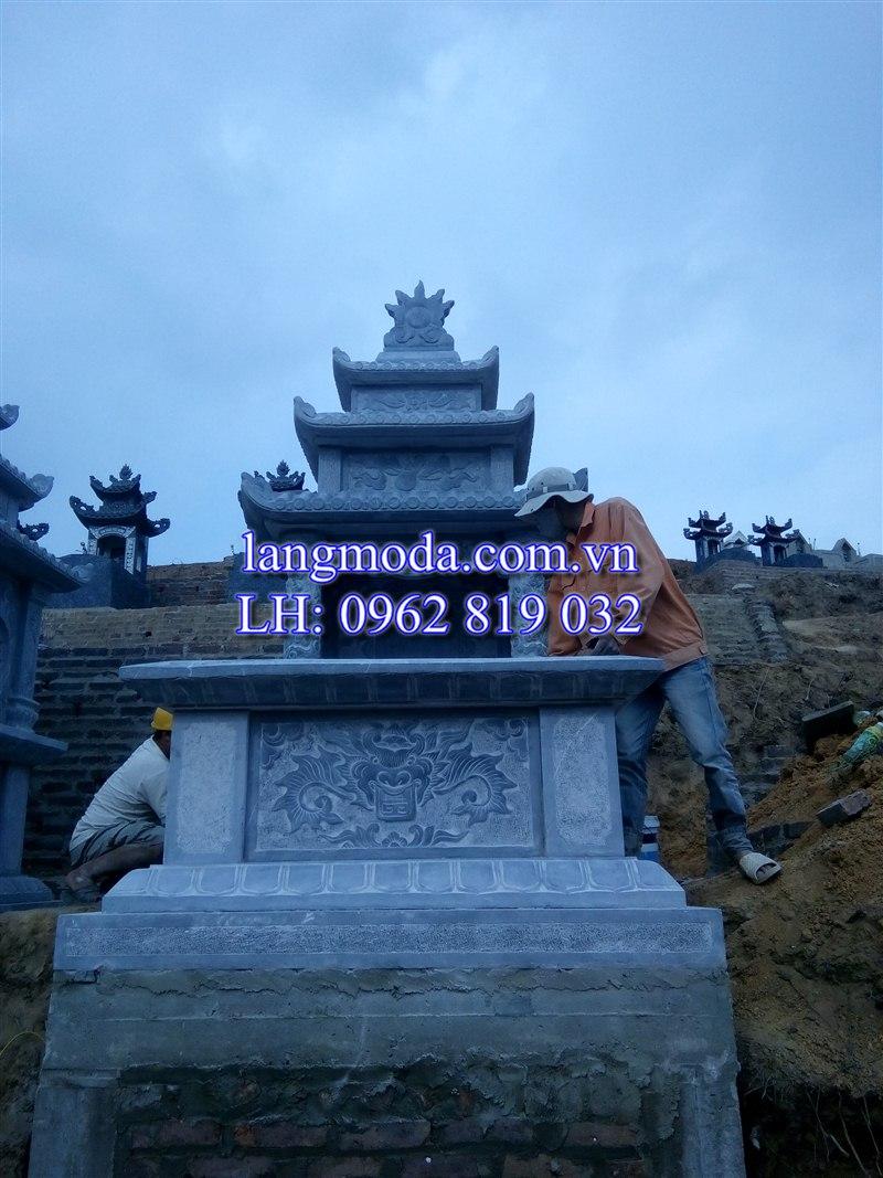 Lăng mộ đá tại huyện Phổ Yên, tỉnh Thái Nguyên, mộ đá ba đao, mộ đá đẹp, lăng mộ đẹp, lăng mộ đá