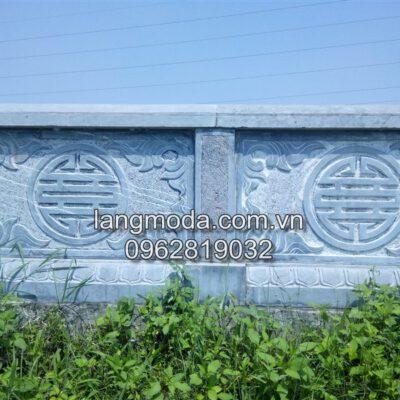 Mẫu hàng rào đá khu mộ , hàng rào đá