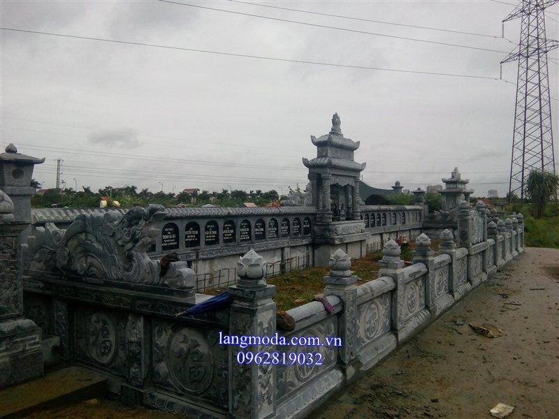 Khu lăng mộ sau khi được cơ sở đá mỹ nghệ Bảo Châu thiết kế thi công