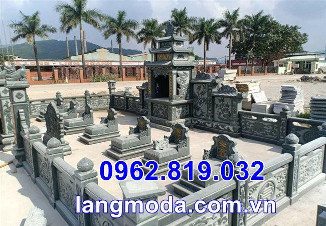Lăng mộ đá xanh rêu lắp tại Thái Bình, lăng mộ đá đẹp tại Thái Bình