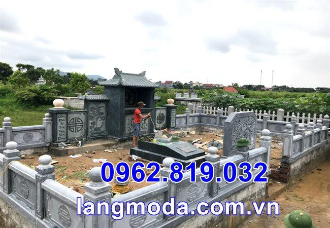 Mẫu lăng mộ đẹp bằng đá tại Thái Bình