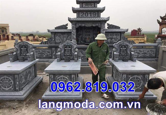 Mẫu lăng mộ đá đơn giản tại Thái Bình