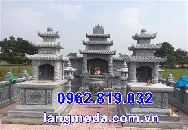 Xây mộ đá đẹp tại Thái Bình