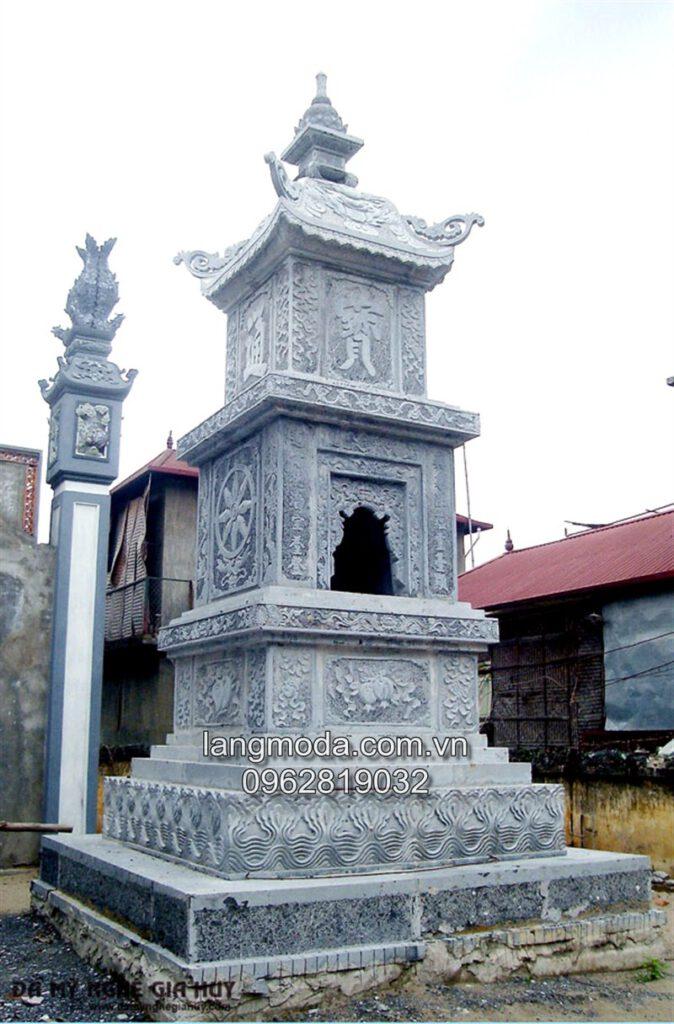 Mộ đá tháp,mẫu mộ tháp đá, mộ tháp đẹp