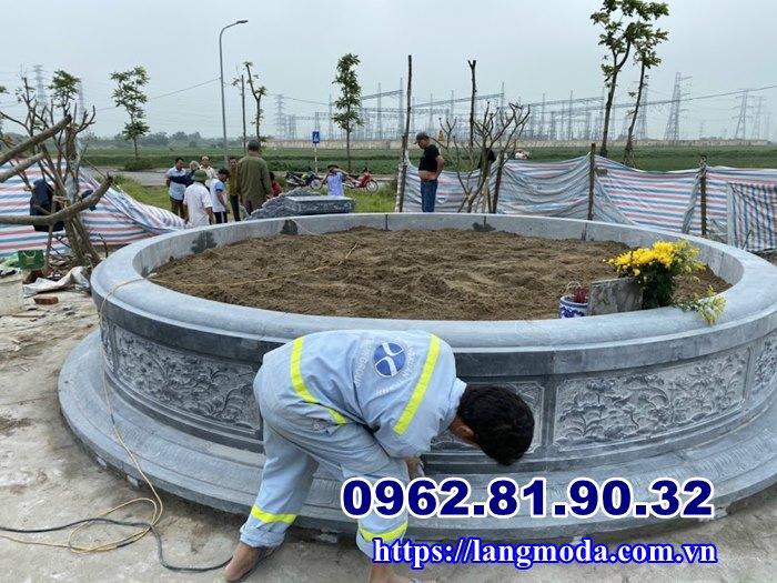 Các mẫu mộ tròn đá đẹp bán tại Hải Phòng