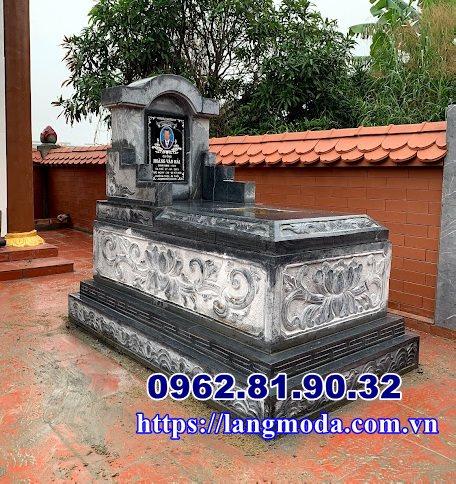 Mẫu mộ đá tự nhiên nguyên khối đẹp Hải Phòng