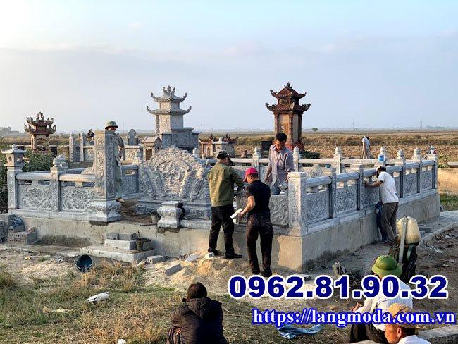 Lắp đặt lăng mộ đá đẹp tại Vĩnh Bảo Hải Phòng