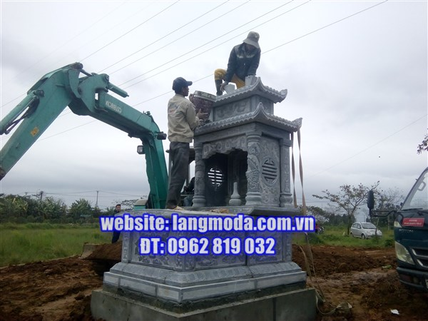 Lắp đặt lăng mộ đá tại Uy Nỗ, Đông Anh, Hà Nội