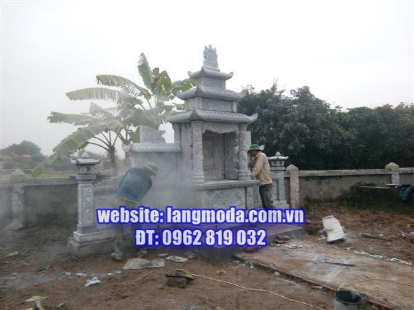 Xây dựng lăng mộ đá tại đền Đô Bắc Ninh