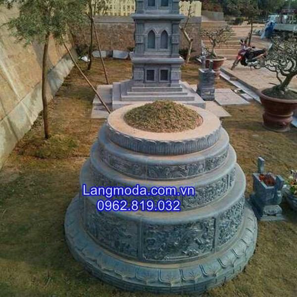 các kích thước mẫu mộ đá tròn đẹp, kích thước mộ tròn đẹp