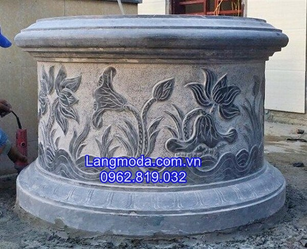Mẫu mộ tròn đẹp, mộ tròn đá , kích thước mộ tròn đẹp
