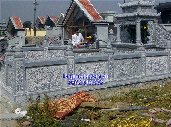 Mẫu Lan can đá đình chùa nhà thờ họ khu lăng mộ đá