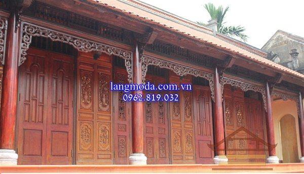 Mẫu chân cột đá đẹp trong kiến trúc nhà gỗ
