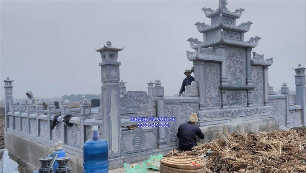 Lắp đặt lăng mộ đá taị Hưng Yên