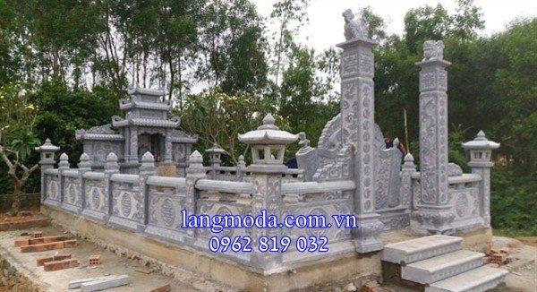 Khu lăng mộ đá gia đình, thiết kế khu lăng mộ đá gia đình