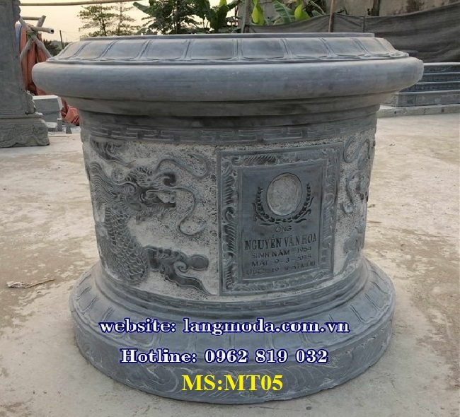 Mẫu mộ tròn đẹp làm bằng đá khối, Mẫu mộ tròn đẹp bằng đá