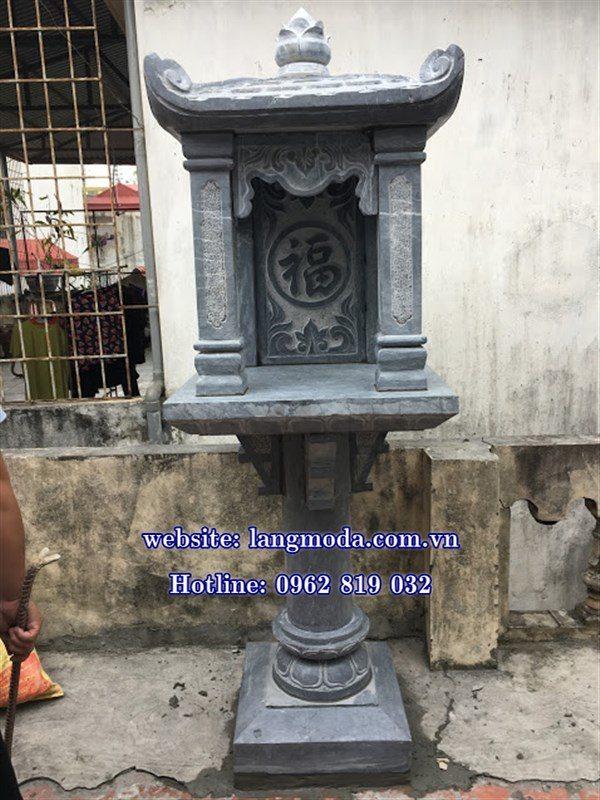 bàn thờ thiên làm bằng đá khối, cây hương đá, bàn thờ đá, bàn thờ thiên địa