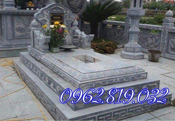 Mẫu mộ đơn giản , mộ đá không mái, Mộ không mái