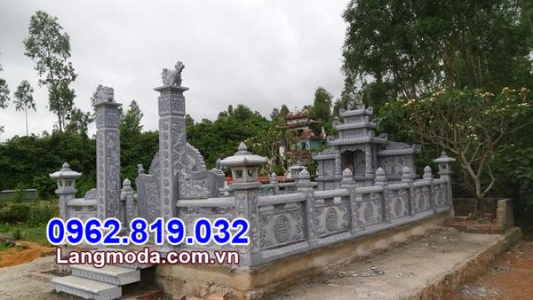 Khu lăng mộ đá đẹp - Xây nghĩa trang gia đình bằng đá tự nhiên