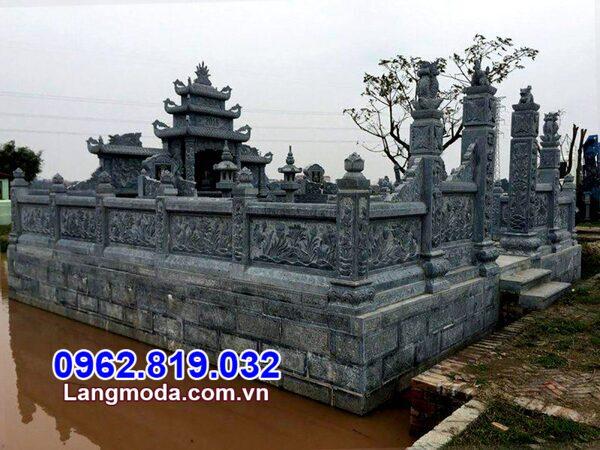Khu lăng mộ đẹp - Mẫu nghĩa trang gia đình dòng họ bằng đá