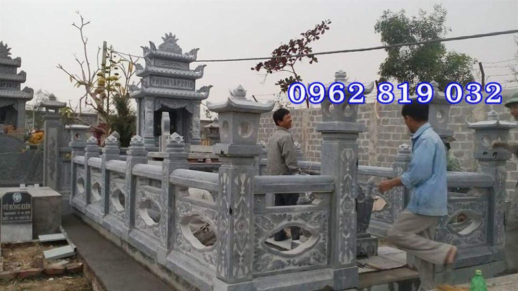 Làm lăng mộ gia đình bằng đá tại Hải Dương, Khu mộ gia đình bằng đá