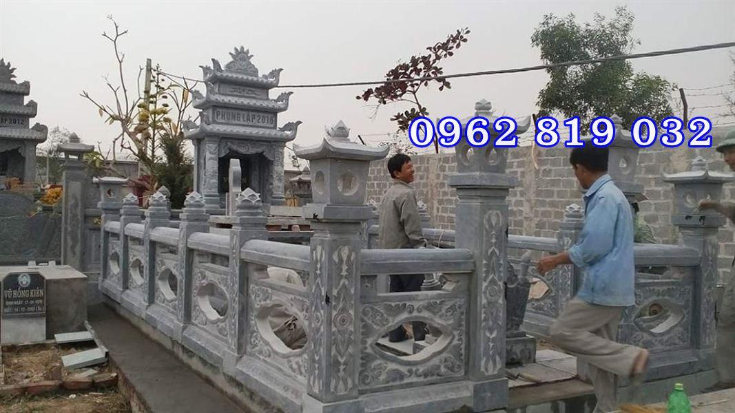 Lăng mộ gia đình đẹp, Khu mộ gia đình bằng đá