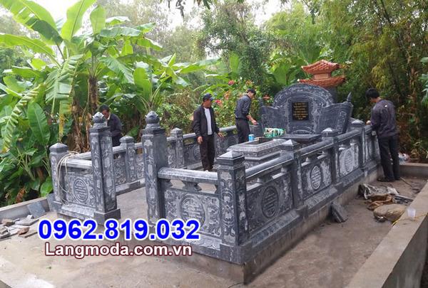 Lăng mộ đá xanh - Mẫu nghĩa trang gia đình đẹp