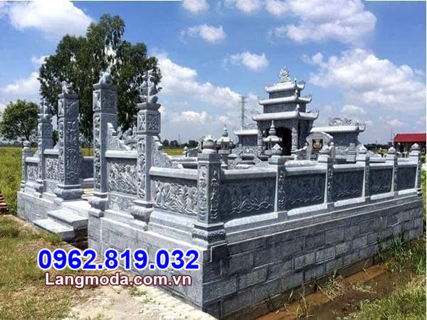 Xây lăng mộ bằng đá - Mẫu nghĩa trang gia đình bằng đá