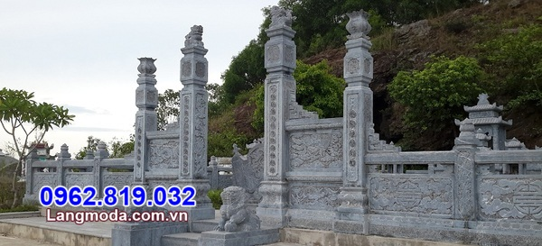 cổng đá cho khu nghĩa trang gia đình