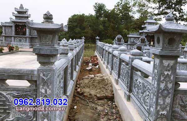 lan can đá cho khu nghĩa trang gia đình