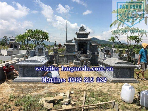 Lăng mộ gia đình, khu mộ gia đình bằng đá