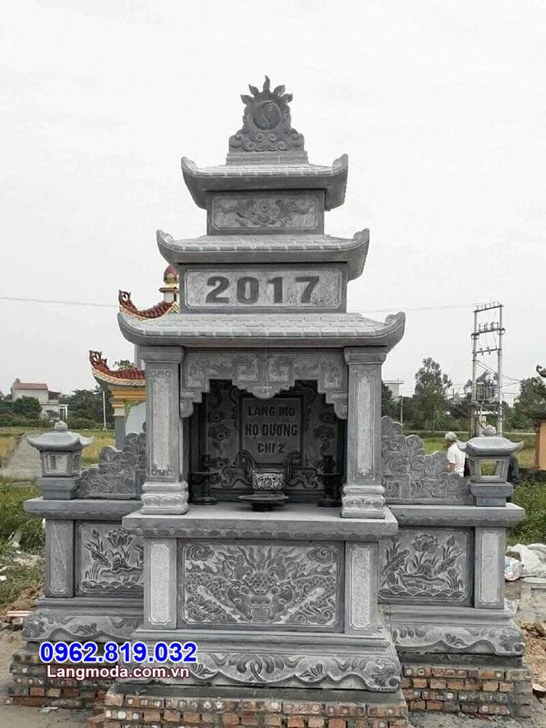 lăng thờ bằng đá cho khu nghĩa trang gia đình