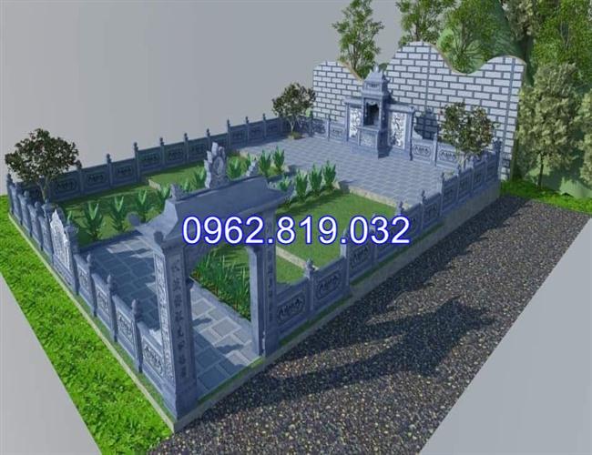Mẫu thiết kế khu nghĩa trang gia đình dòng họ đẹp