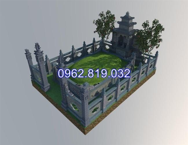 Mẫu thiết kế khu nghĩa trang gia đình dòng họ đẹp -03