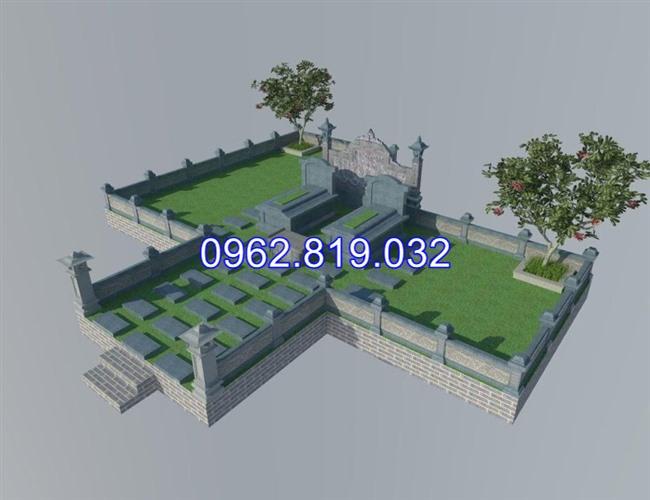 Mẫu thiết kế khu nghĩa trang gia đình dòng họ đẹp 04