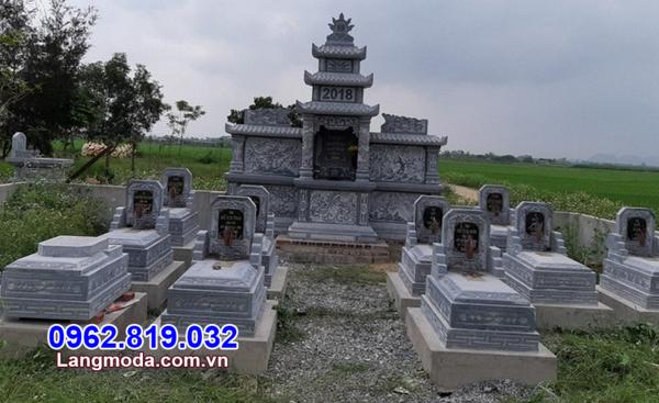 mộ đá khu nghĩa trang gia đình