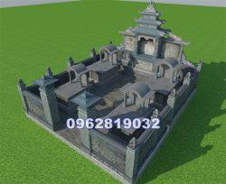 Thiết kế nghĩa trang gia đình dòng họ bằng đá.