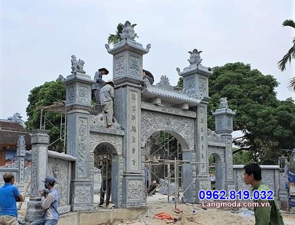Cổng đá đẹp - 20 Mẫu cổng đá đẹp cho nhà thờ, đình chùa, khu lăng mộ
