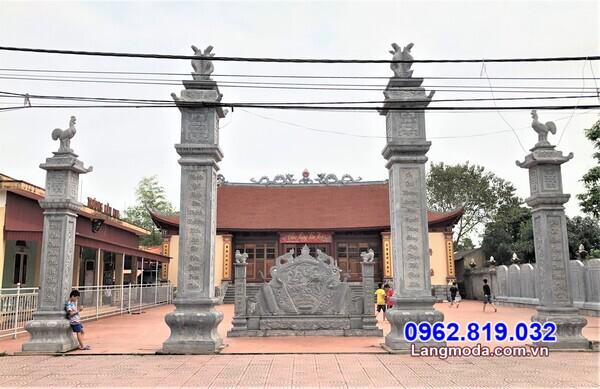Giá thành lắp đặt cổng đá đẹp cho các công trình tâm linh