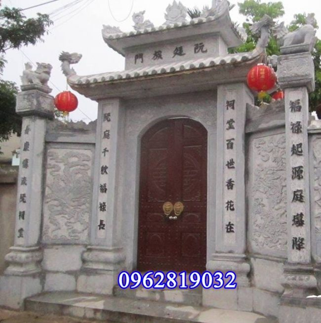 Kích thước xây cổng tam quan bằng đá đẹp