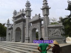 Cổng tam quan chùa, Cổng tam quan chùa bằng đá xanh, Cổng tam quan đình chùa, mẫu cổng tam quan chùa;