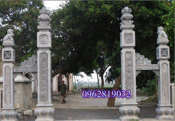 Cổng đá đẹp, mẫu Cổng đá đẹp, Mẫu công tam quan đẹp , Cổng tam quan chùa, Kích thước cổng tam quan ,