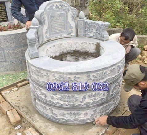 Mẫu mộ tròn bằng đá tại thanh hóa, Mộ tròn bằng đá thanh hóa, Mẫu mô tròn đẹp thanh hóa, giá mộ tròn tại thanh hóa, ;